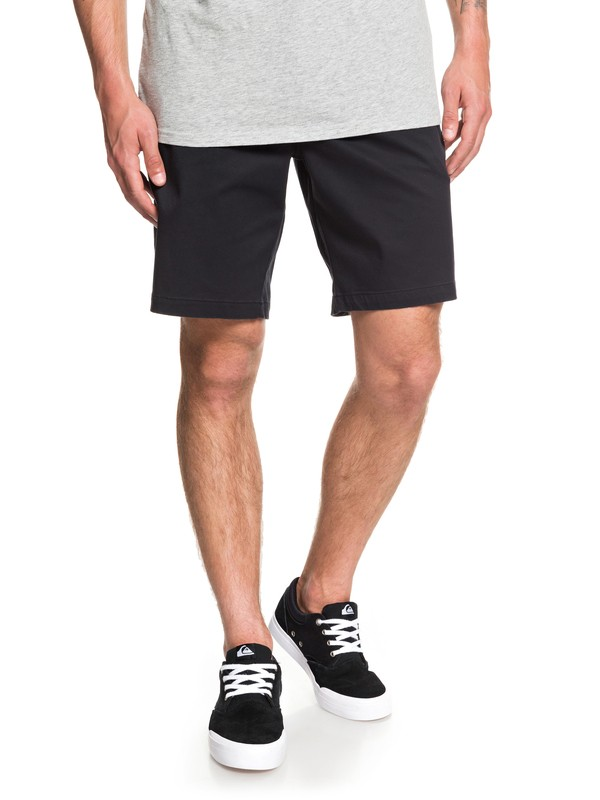 "0 Waterman Secret Ocean 20"" Chino Shorts Black EQMWS03110 Quiksilver"