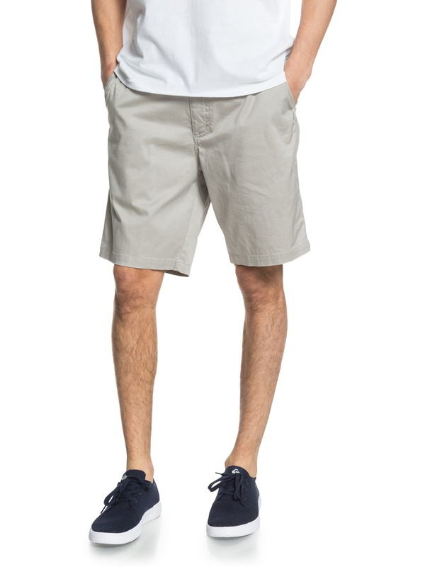 "0 Waterman Secret Ocean 20"" Chino Shorts Grey EQMWS03110 Quiksilver"