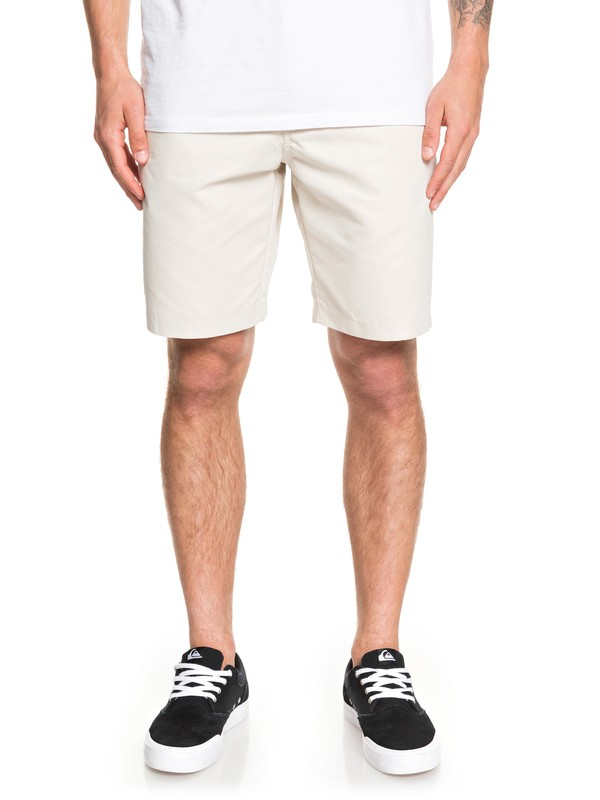 "0 Waterman Maldive 20"" Chino Shorts Grey EQMWS03111 Quiksilver"