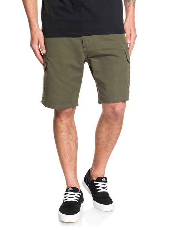 "0 Waterman Maldive 20"" Cargo Shorts Brown EQMWS03112 Quiksilver"