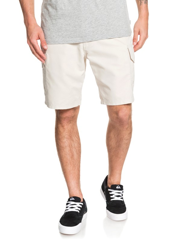 "0 Waterman Maldive 20"" Cargo Shorts Grey EQMWS03112 Quiksilver"