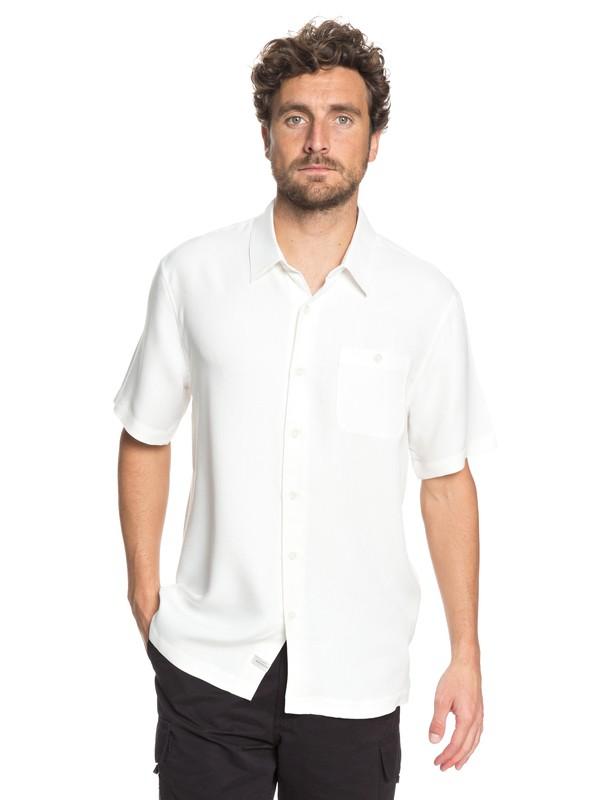 0 Waterman Avalon Short Sleeve Shirt White EQMWT03051 Quiksilver