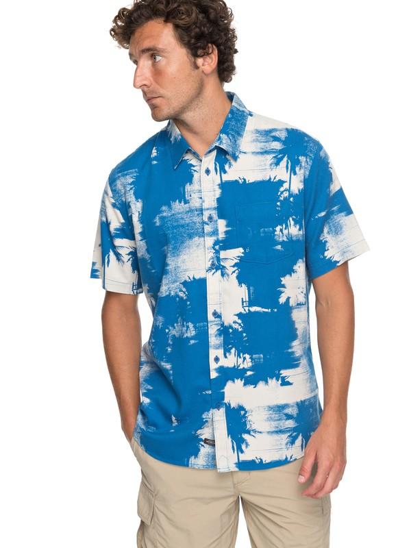 0 Waterman Paokalani Palms Technical Short Sleeve Shirt  EQMWT03130 Quiksilver