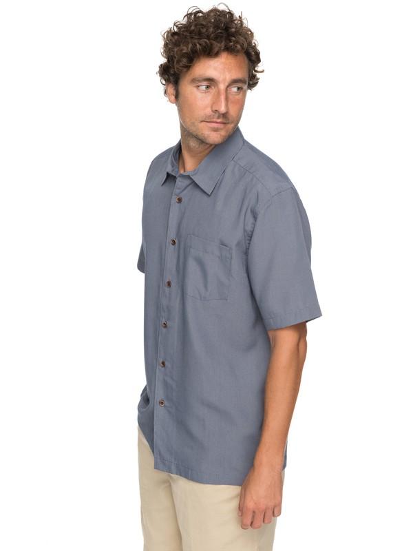 0 Waterman Cane Island Short Sleeve Shirt Blue EQMWT03149 Quiksilver