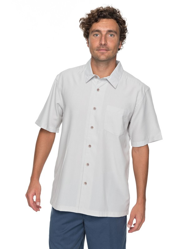 0 Waterman Cane Island Short Sleeve Shirt Grey EQMWT03149 Quiksilver
