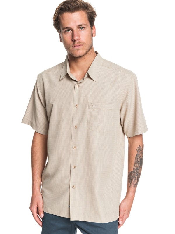 0 Waterman Centinela Short Sleeve Shirt Brown EQMWT03150 Quiksilver