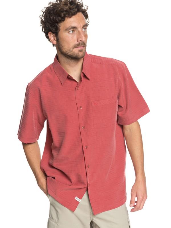 0 Waterman Centinela Short Sleeve Shirt Pink EQMWT03150 Quiksilver