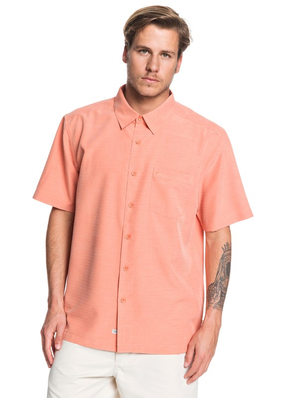 0 Waterman Centinela Short Sleeve Shirt Orange EQMWT03150 Quiksilver