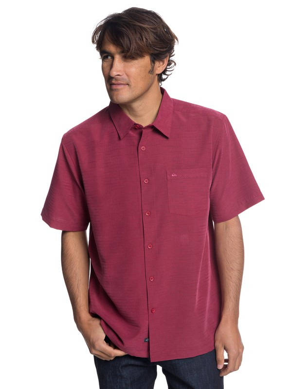 0 Waterman Centinela Short Sleeve Shirt Red EQMWT03150 Quiksilver