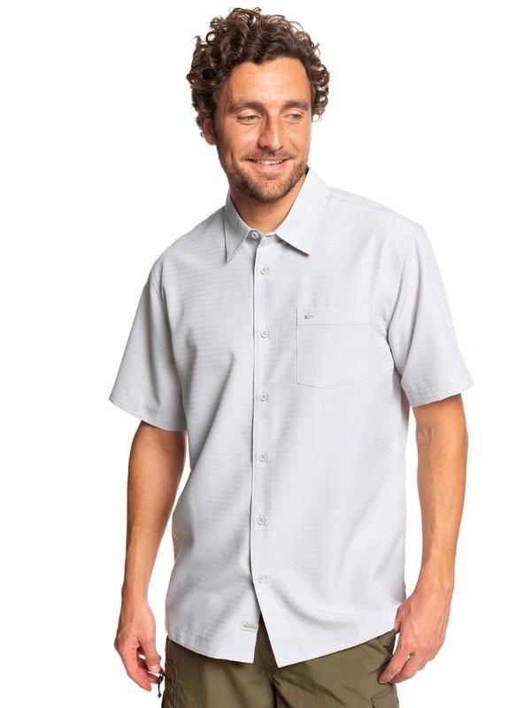 0 Waterman Centinela Short Sleeve Shirt Grey EQMWT03150 Quiksilver