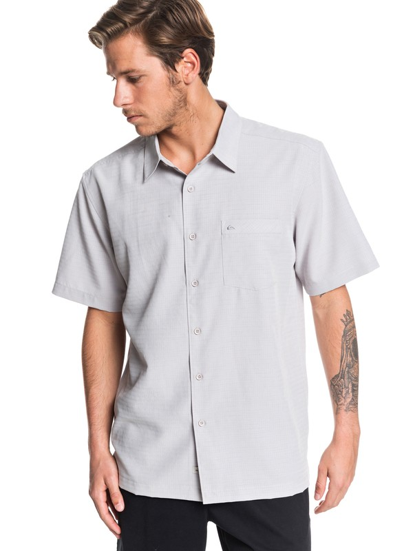 0 Waterman Centinela Short Sleeve Shirt Grey EQMWT03150 Quiksilver