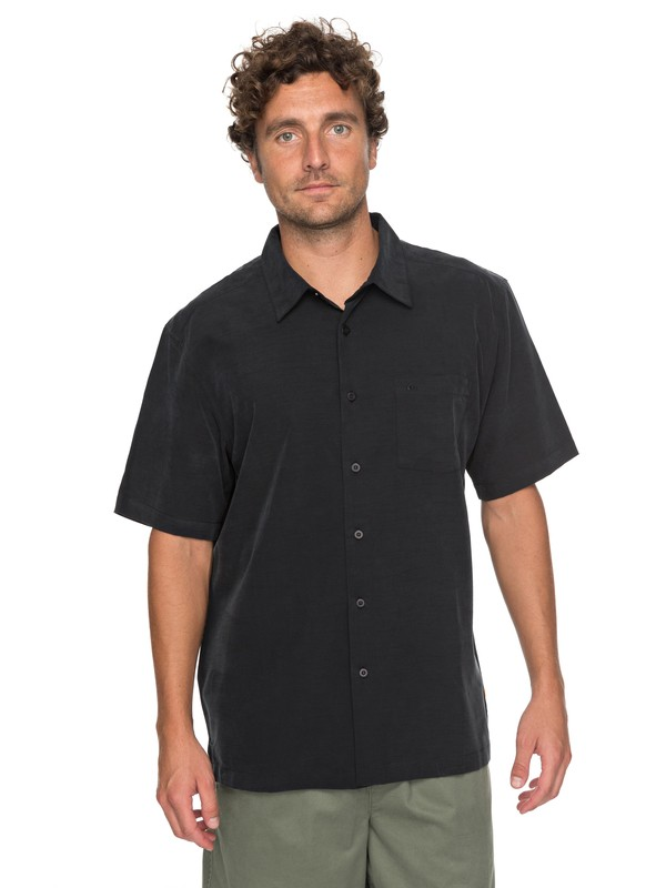 0 Waterman Clear Days Short Sleeve Shirt Black EQMWT03151 Quiksilver