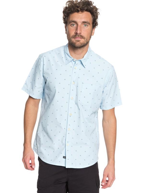 0 Waterman Trailblazed Tribal Right Technical Short Sleeve Shirt Blue EQMWT03162 Quiksilver