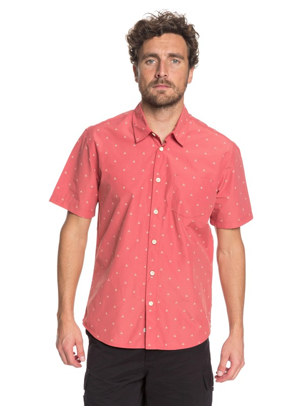 0 Waterman Trailblazed Tribal Right Technical Short Sleeve Shirt Pink EQMWT03162 Quiksilver