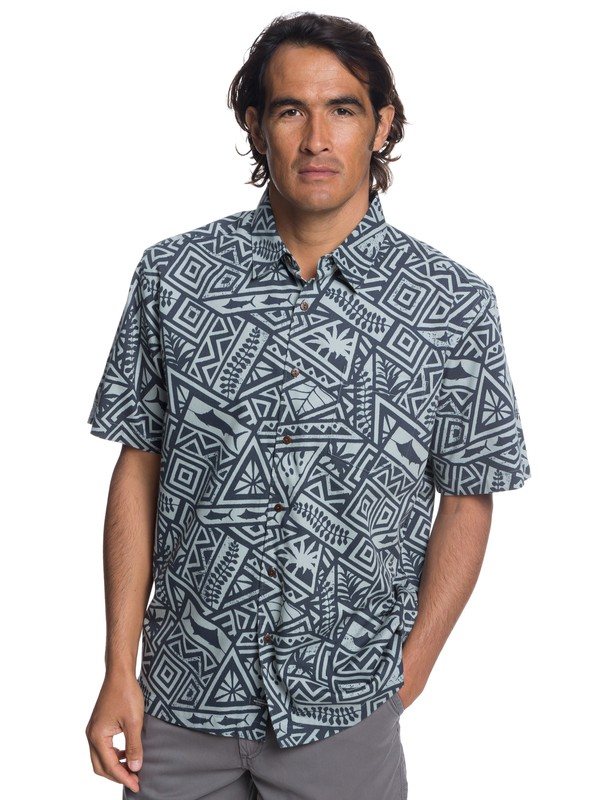 0 Waterman Ma Tama Short Sleeve Shirt Black EQMWT03173 Quiksilver