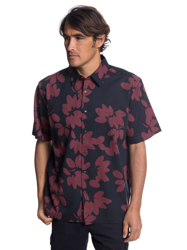 0 Waterman Living The Life Short Sleeve Shirt Black EQMWT03175 Quiksilver