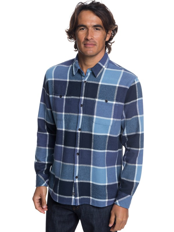 0 Watermans Cold Breeze Technical Long Sleeve Shirt Blue EQMWT03178 Quiksilver