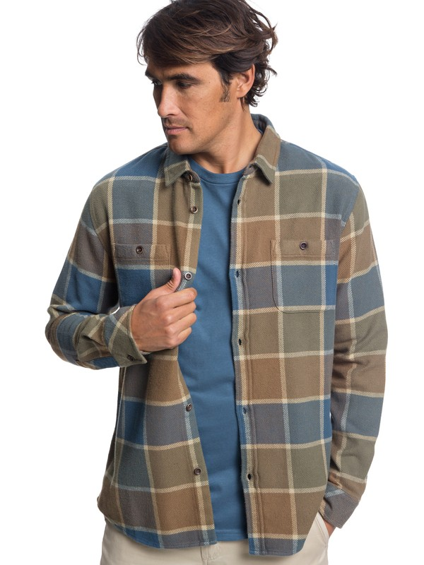 0 Watermans Cold Breeze Technical Long Sleeve Shirt Brown EQMWT03178 Quiksilver