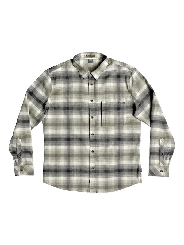0 Waterman Thermo Hyper Flannel Technical Long Sleeve Shirt Grey EQMWT03183 Quiksilver