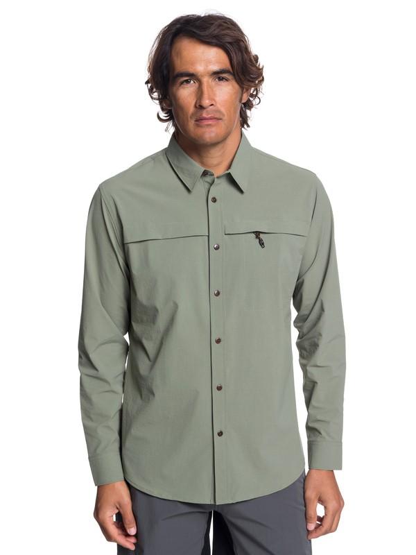 0 Waterman Salt Water Explorer - Technical UPF 30 Long Sleeve Shirt for Men Beige EQMWT03189 Quiksilver