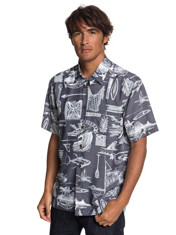 0 Waterman Tools Of Trade Short Sleeve Shirt Black EQMWT03197 Quiksilver