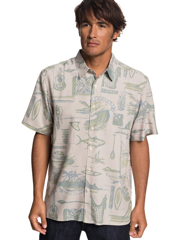 0 Playera de Manga Corta Waterman Tools Of Trade Gris EQMWT03197 Quiksilver