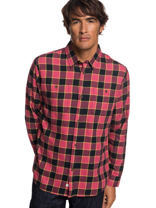 0 Waterman Cold March Long Sleeve Shirt Red EQMWT03211 Quiksilver