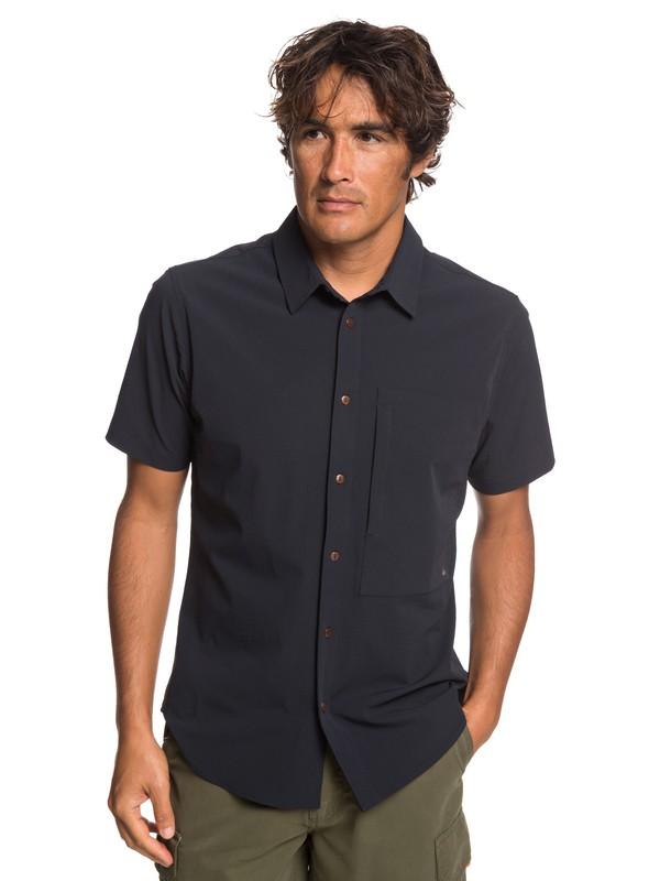 0 Waterman Salt Water Reloaded - Camisa de Manga Corta con UPF 30 para Hombre Negro EQMWT03222 Quiksilver