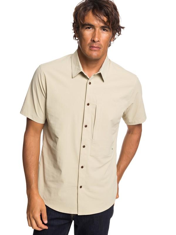 0 Waterman Salt Water Reloaded - Camisa de Manga Corta con UPF 30 para Hombre Beige EQMWT03222 Quiksilver