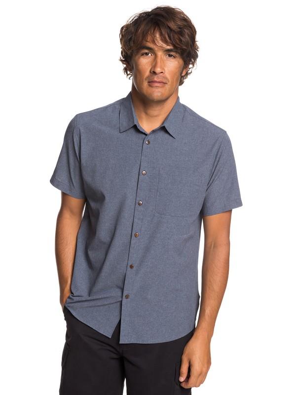 0 Waterman Tech Tides - Camisa de Manga Corta con UPF 30 para Hombre Azul EQMWT03225 Quiksilver