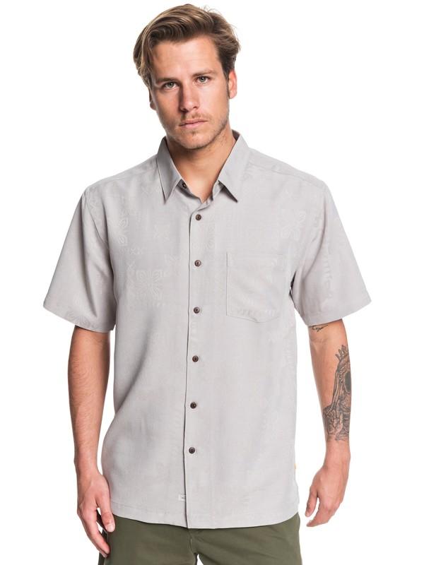 0 Waterman Kelpies Bay Short Sleeve Shirt Grey EQMWT03228 Quiksilver