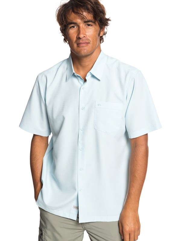 0 Waterman Centinela Short Sleeve Shirt Blue EQMWT03231 Quiksilver