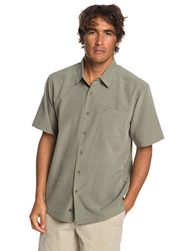 0 Waterman Centinela Short Sleeve Shirt Brown EQMWT03231 Quiksilver