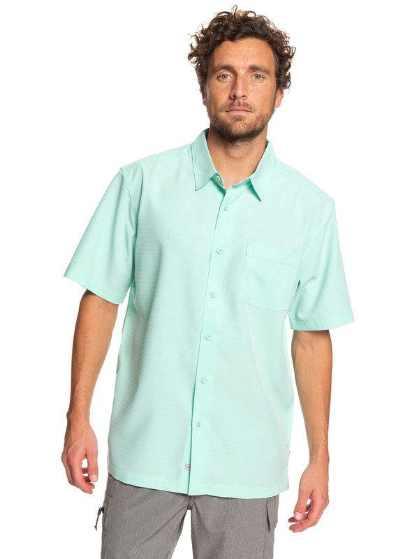 0 Waterman Centinela Short Sleeve Shirt Green EQMWT03231 Quiksilver