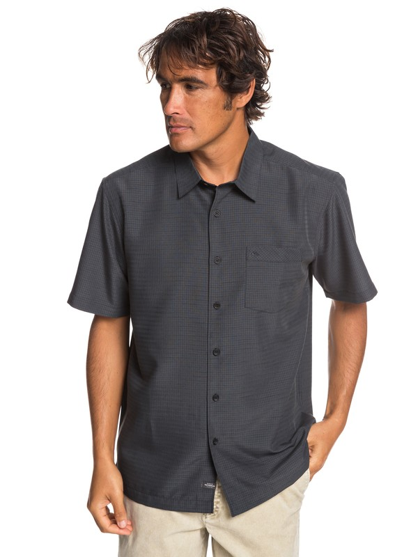 0 Waterman Centinela Short Sleeve Shirt Black EQMWT03231 Quiksilver