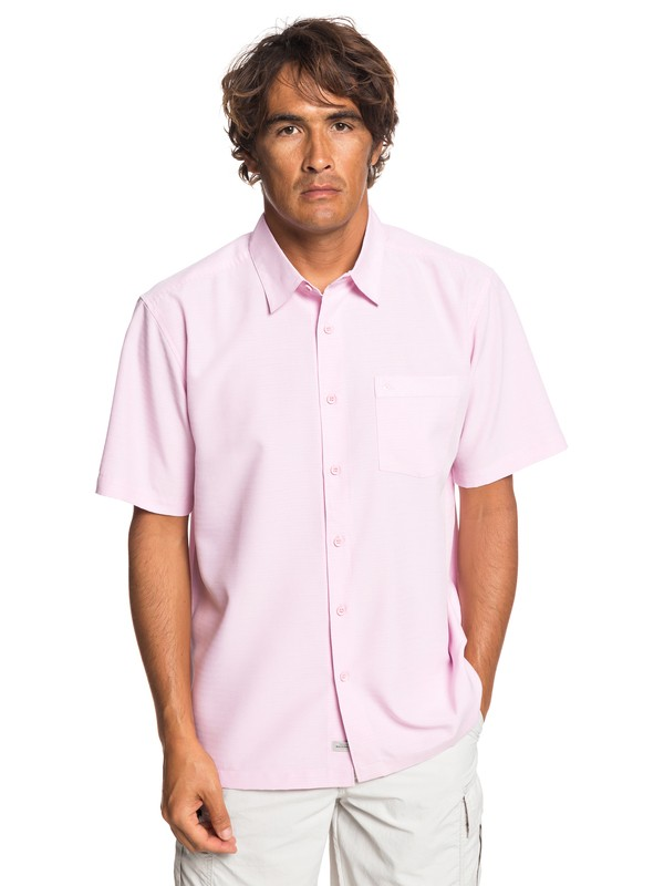 0 Waterman Centinela Short Sleeve Shirt Pink EQMWT03231 Quiksilver