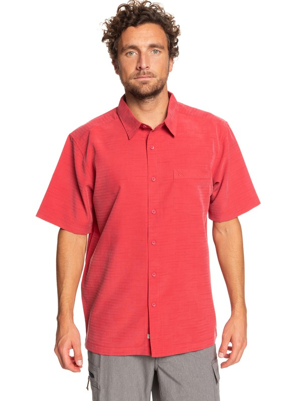 0 Waterman Centinela Short Sleeve Shirt Red EQMWT03231 Quiksilver