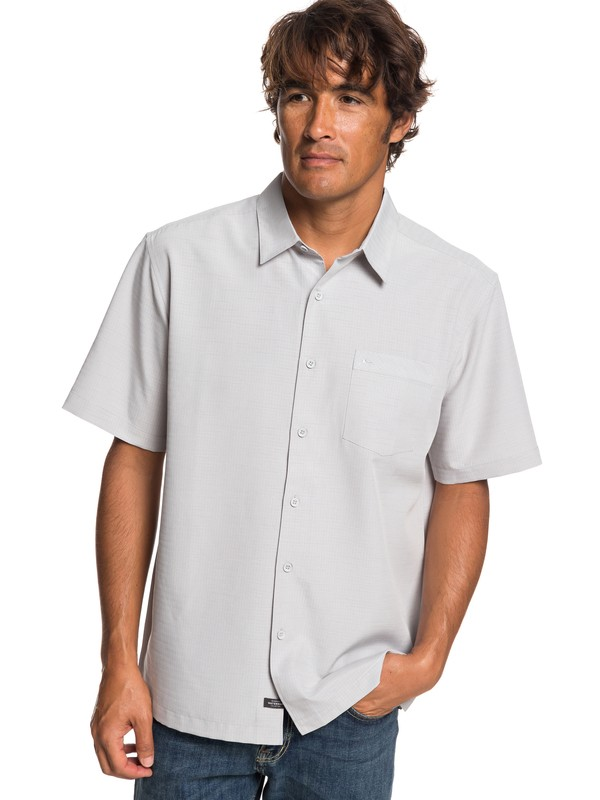 0 Waterman Centinela Short Sleeve Shirt Grey EQMWT03231 Quiksilver