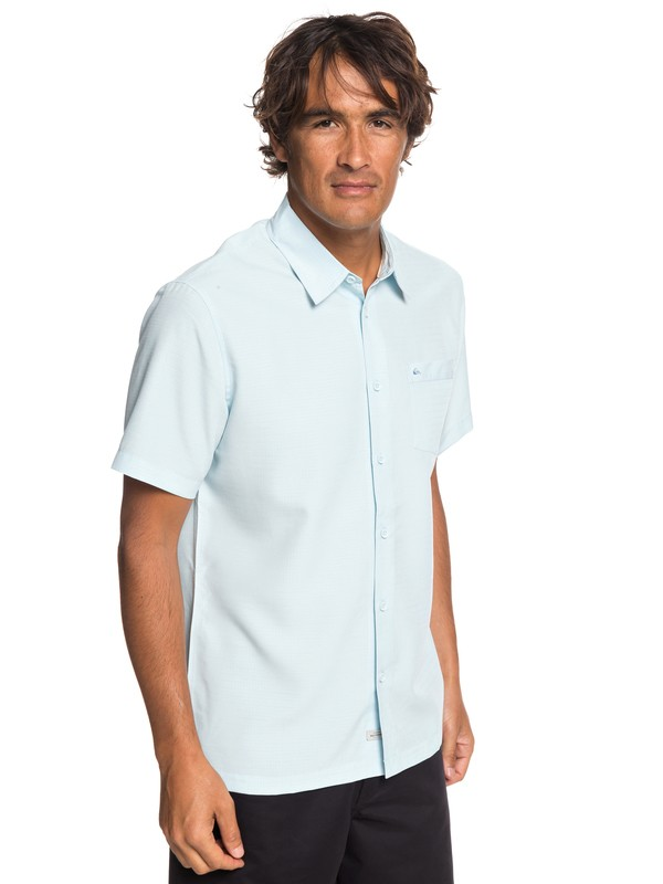 0 Waterman Centinela - Short Sleeve Shirt for Men Blue EQMWT03232 Quiksilver