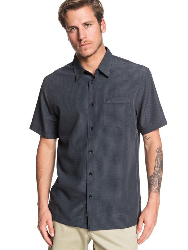 0 Waterman Centinela - Camisa de Manga Corta para Hombre Negro EQMWT03232 Quiksilver