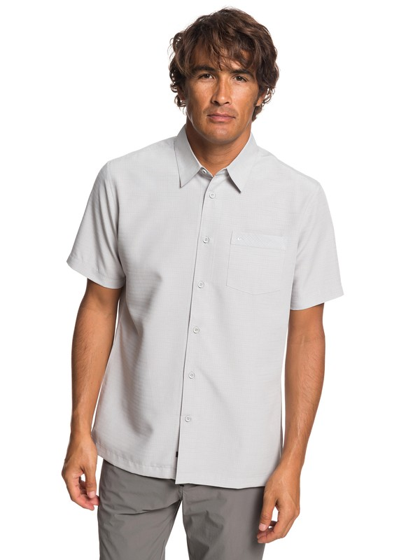 0 Waterman Centinela - Short Sleeve Shirt for Men Grey EQMWT03232 Quiksilver