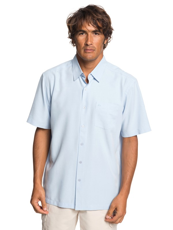 0 Waterman Clear Days Short Sleeve Shirt Blue EQMWT03233 Quiksilver