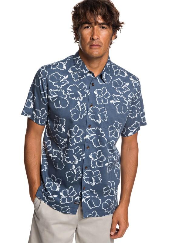 0 Рубашка с коротким рукавом Waterman Seasick Hilo Синий EQMWT03240 Quiksilver