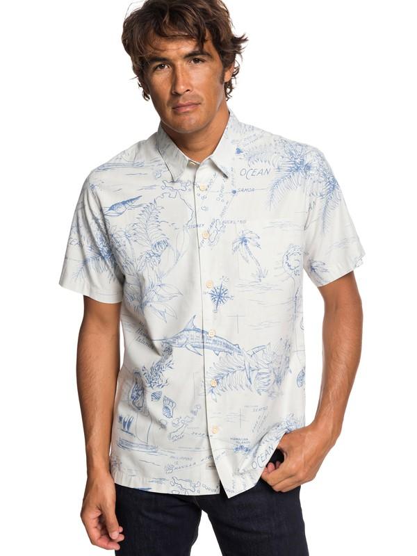 0 Рубашка с коротким рукавом Waterman Pacific Records Серый EQMWT03242 Quiksilver