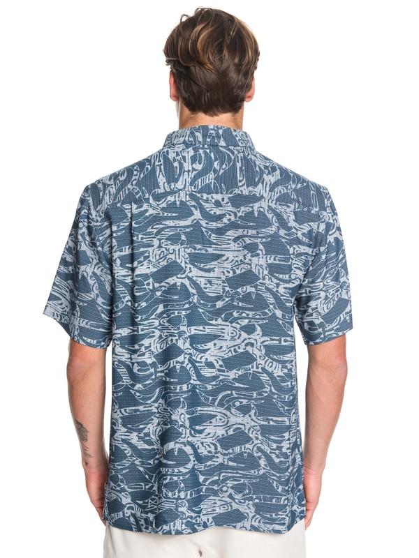 Waterman Tribal Kelp - Short Sleeve Shirt for Men  EQMWT03260