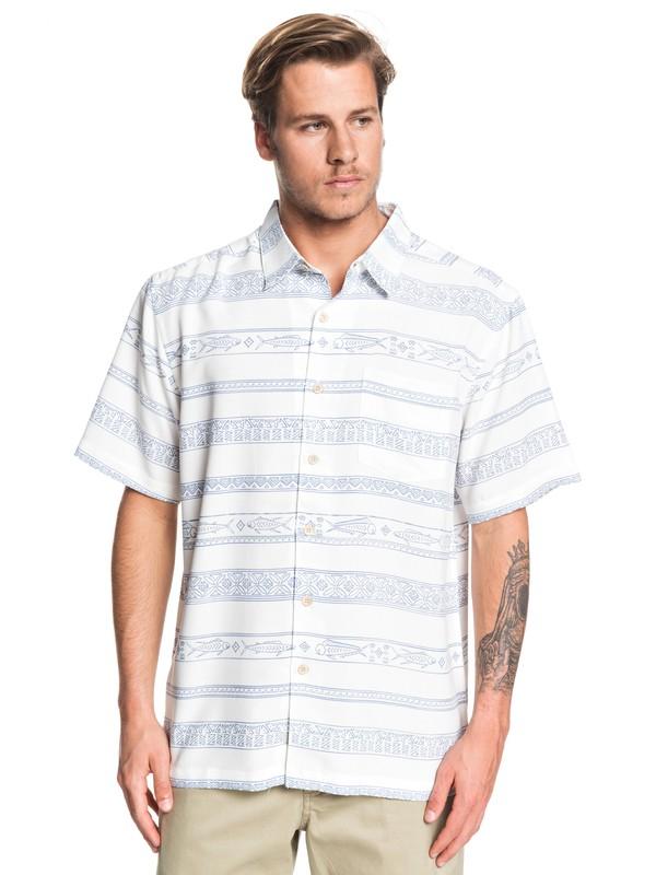 0 Waterman Tapa Sunriser Short Sleeve Shirt White EQMWT03263 Quiksilver
