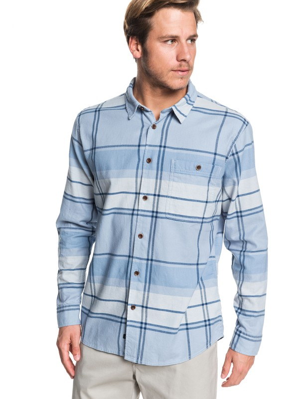 0 Waterman Unfiltered Stoke Long Sleeve Shirt Blue EQMWT03266 Quiksilver
