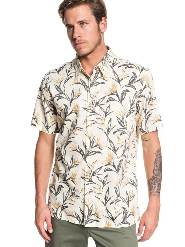 0 Waterman Maze Day Short Sleeve Shirt White EQMWT03268 Quiksilver