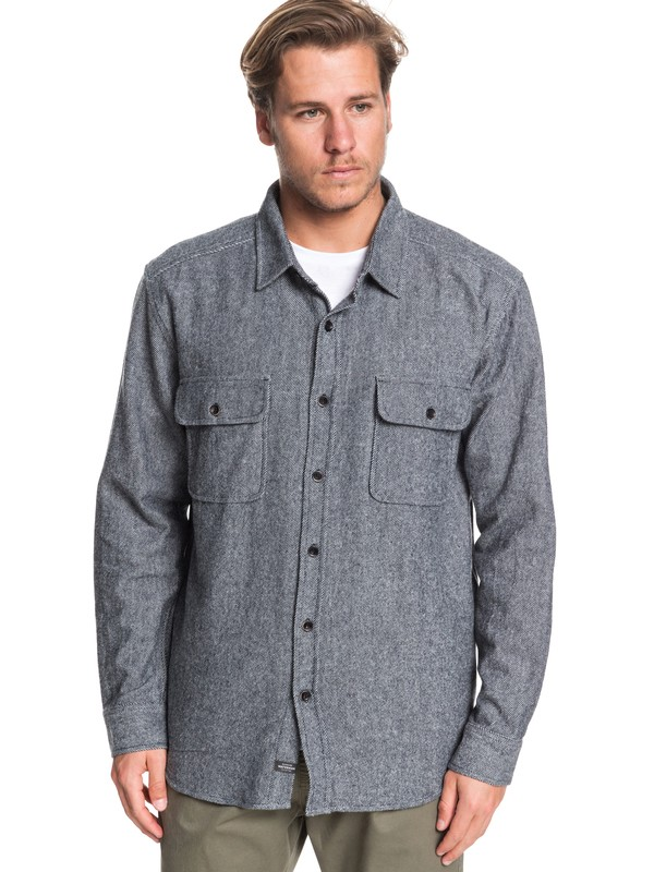 0 Waterman Tiller Lines - Long Sleeve Shirt Black EQMWT03275 Quiksilver