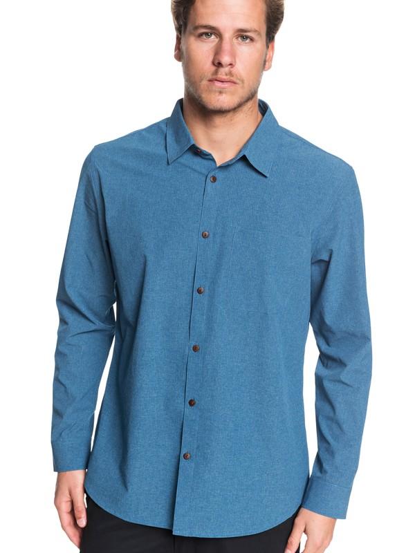 0 Waterman Tech Technical Long Sleeve UPF 30 Shirt Blue EQMWT03285 Quiksilver